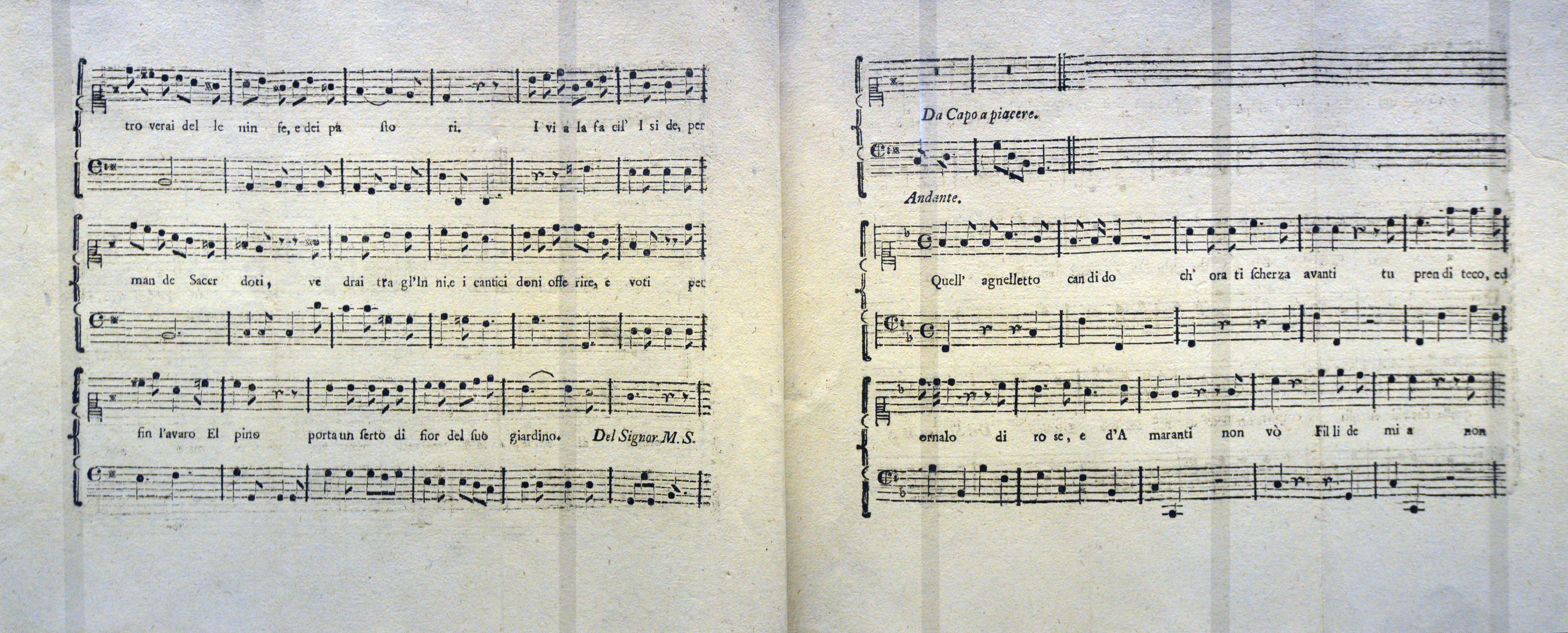 Salieri and Mozart opera Per la Ricuperata Salute