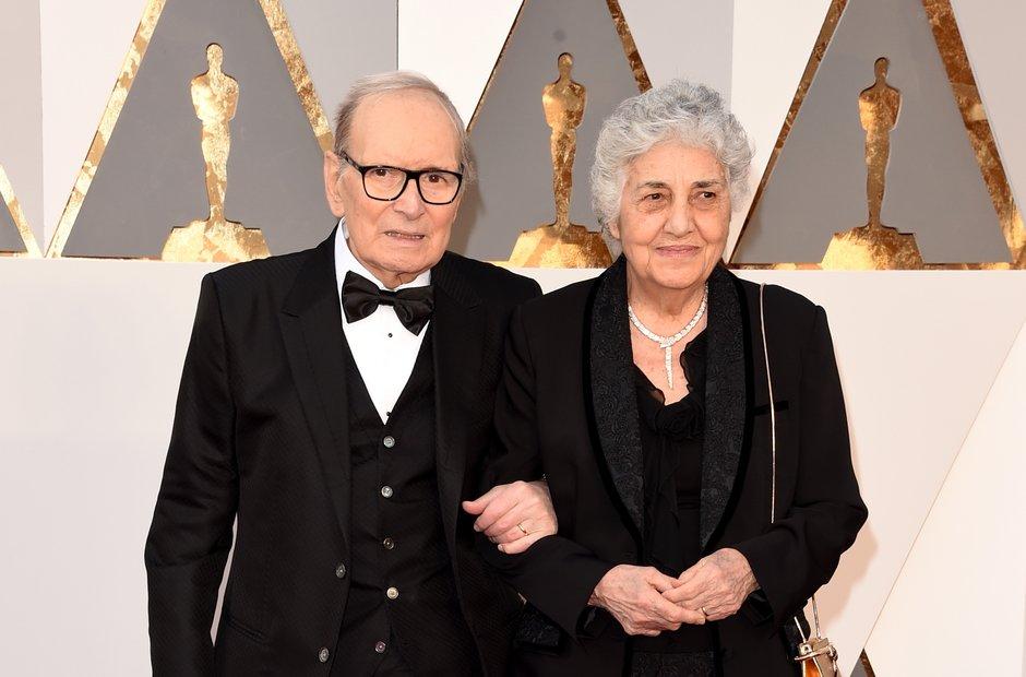 composer Ennio Morricone and his wife Maria