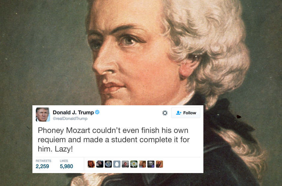 Donald Trump's tweets on classical music are exactly as ...