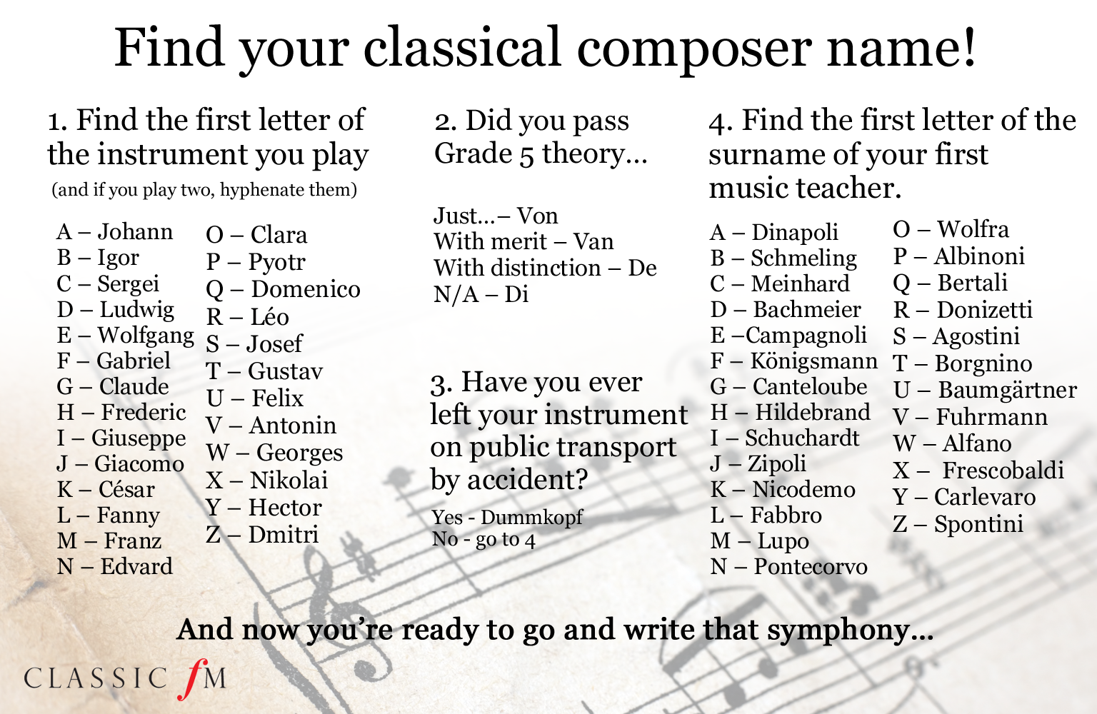 Composer name graphic