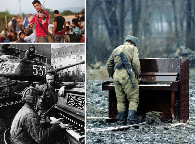 Music in conflict collage