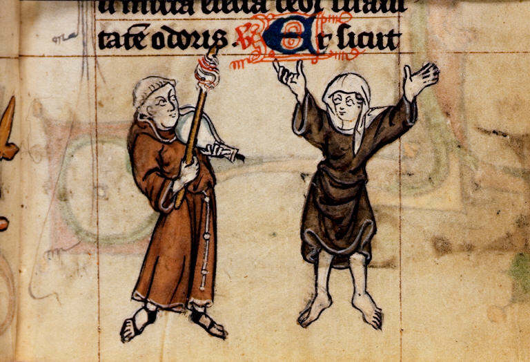 Dancing medieval people