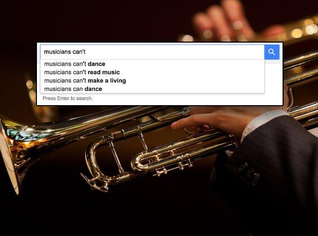 Musicians according to Google