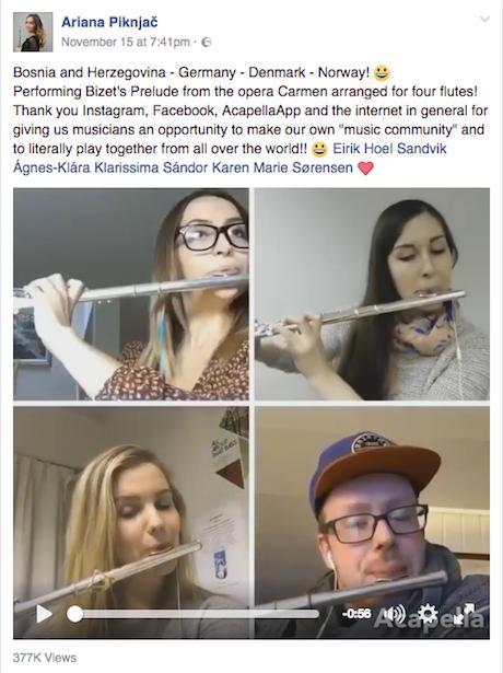 four flutes acapellapp