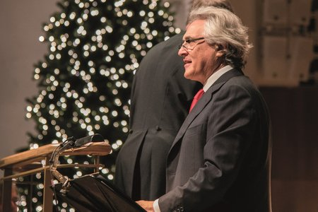 John Suchet at the Spirit of Christmas, Liverpool