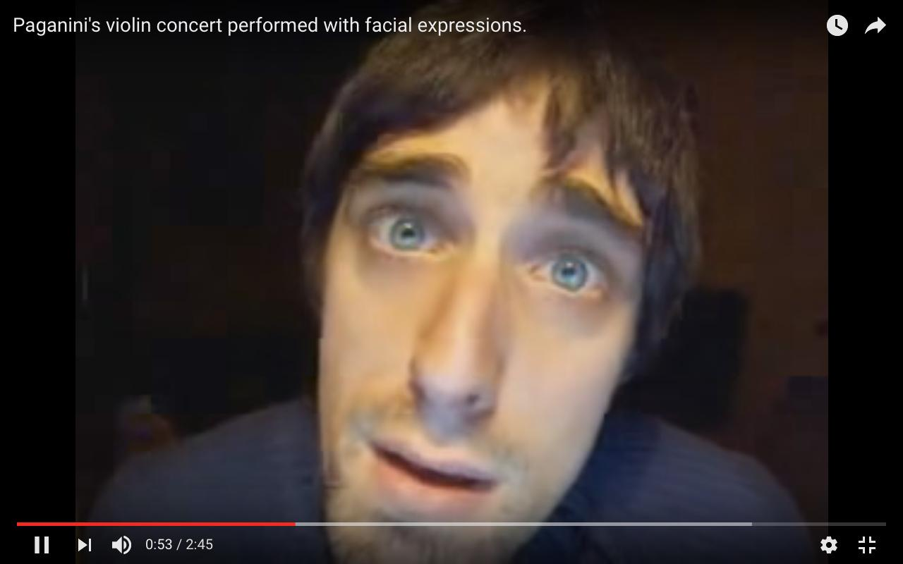 paganini violin facial expression