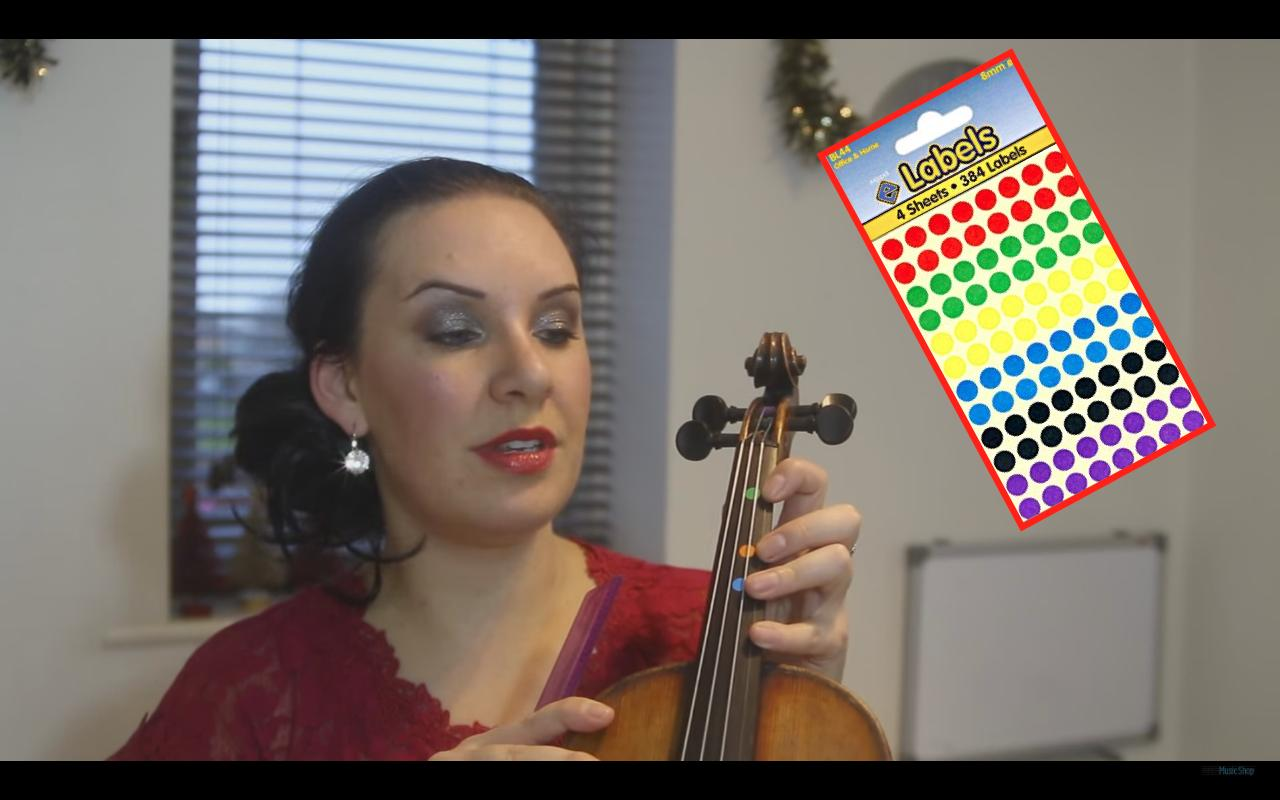 violin fingering dots