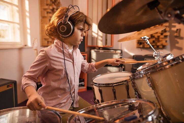 child drummer