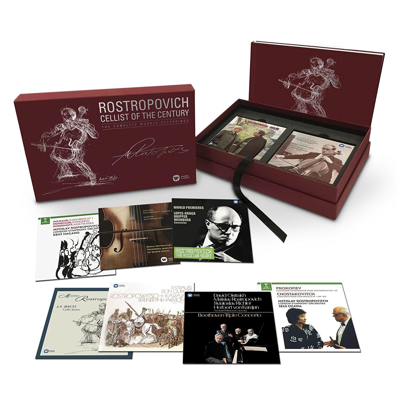 Rostropovich Cellist of the Century Warner Classic