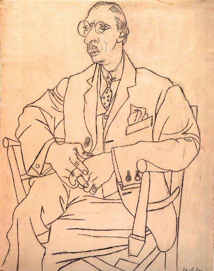 igor stravinsky portrait picasso