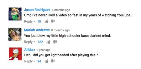 Flight of the bumblebee bass clarinet reaction