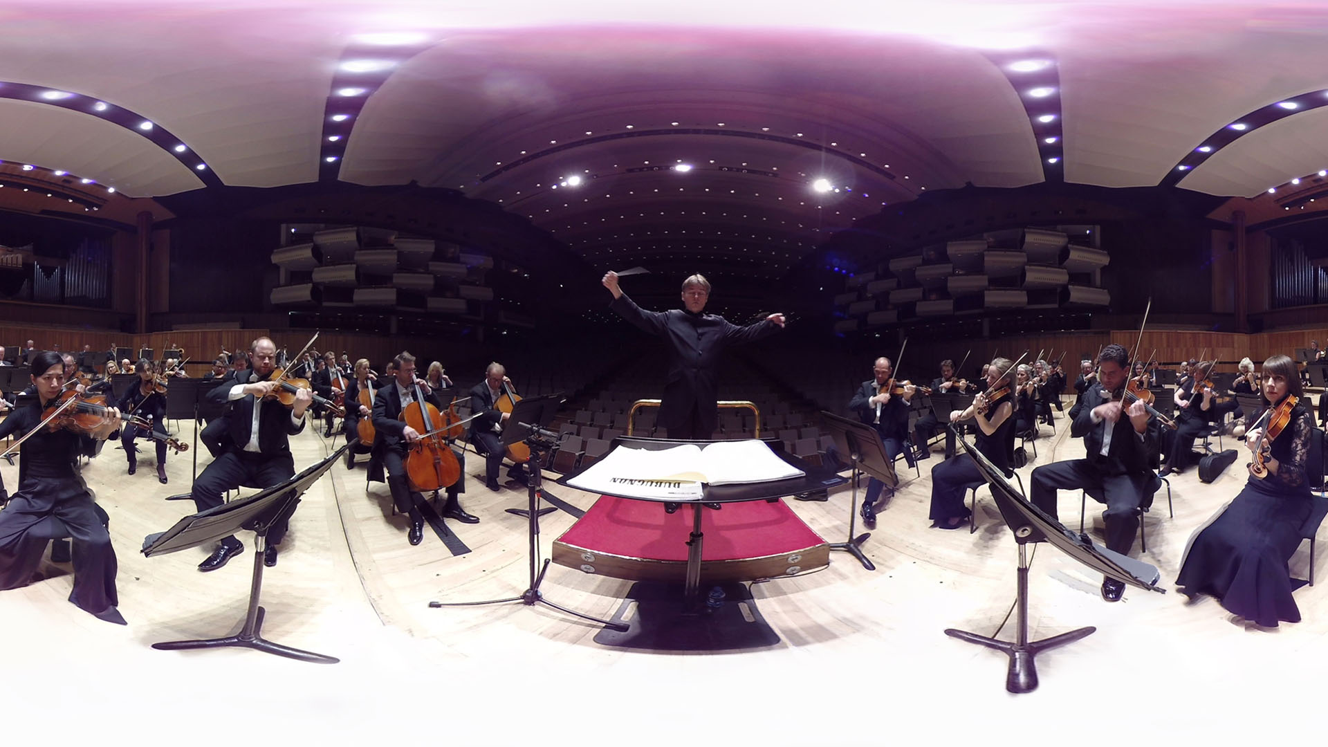 Virtual Orchestra Philharmonia on stage