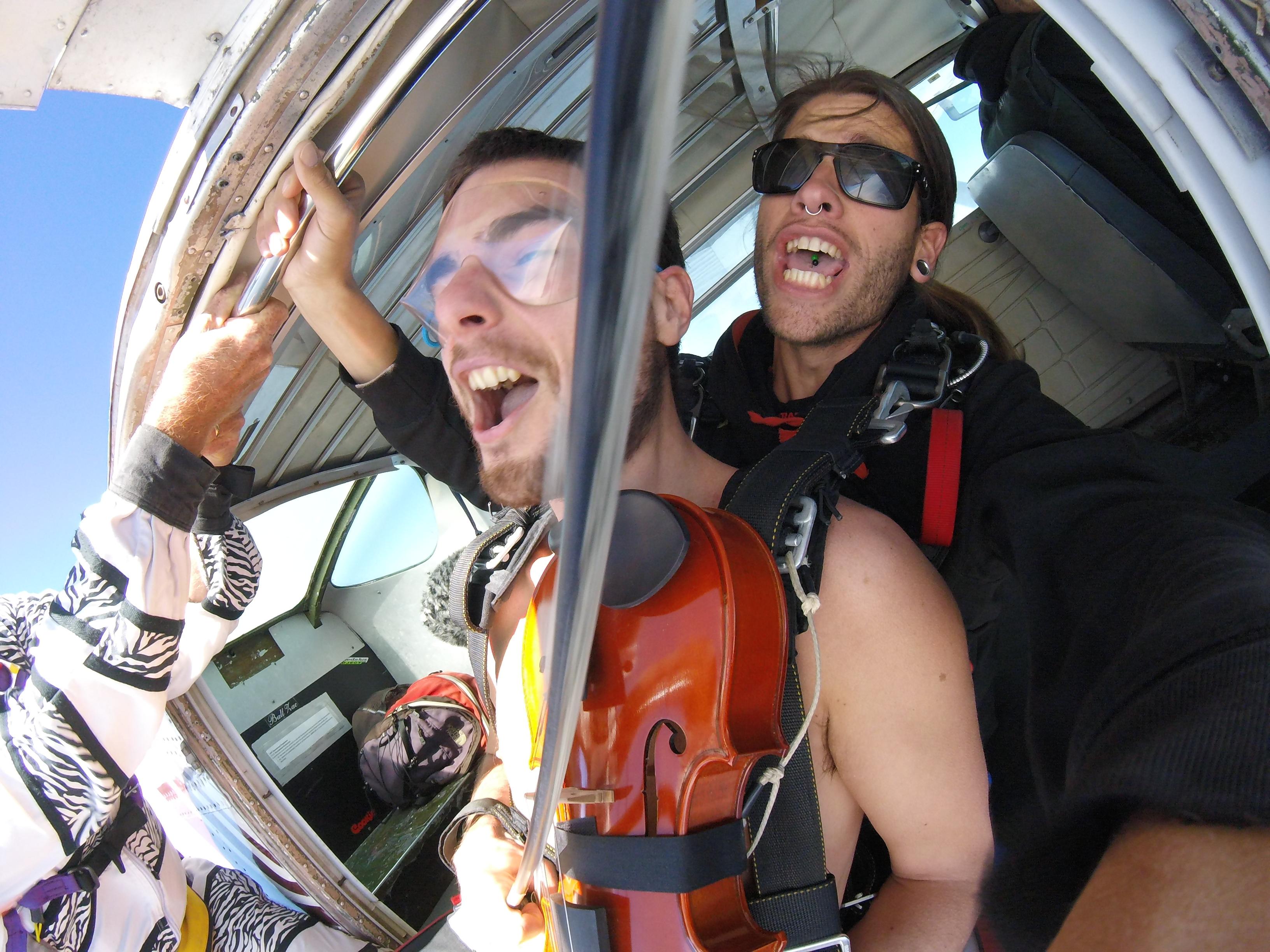 Naked Skydive Glen Donnelly