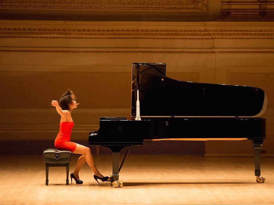 Yuja Wang at piano