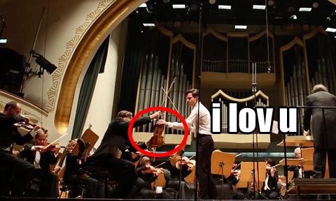 Violin e-string snaps