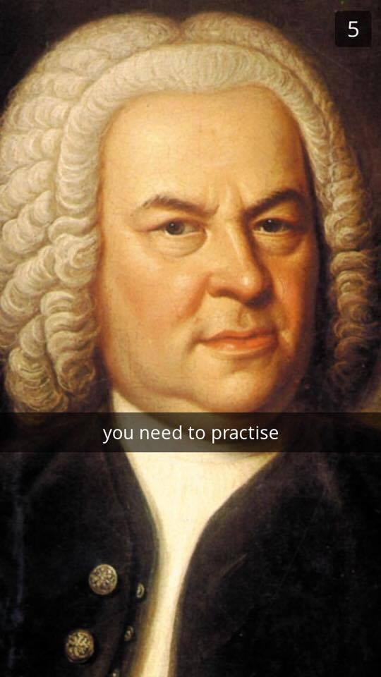 Bach Snapchat meme