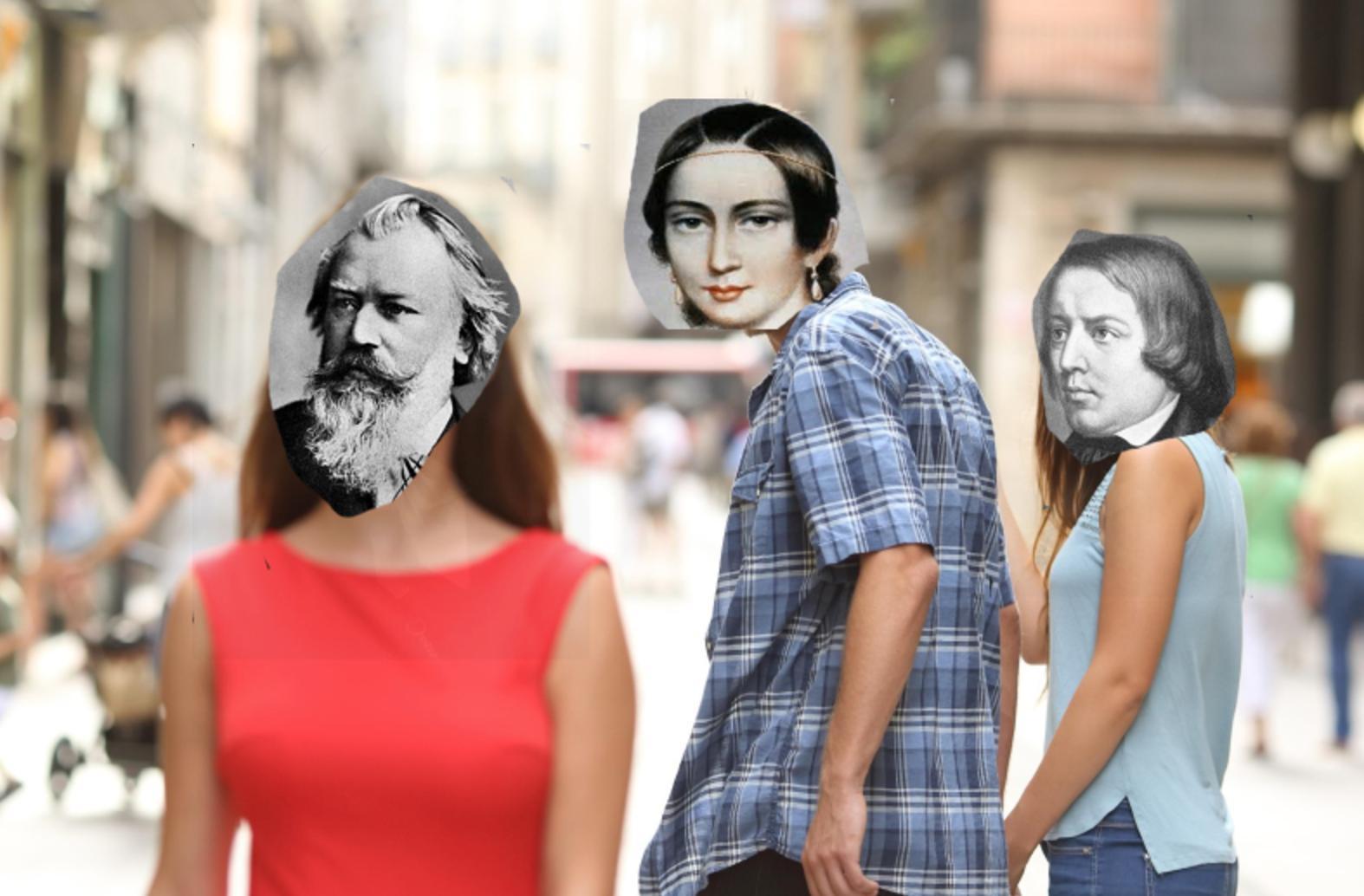 Brahms, Clara and Robert Schumann meme