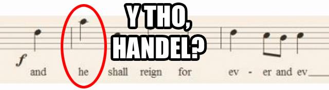 Handel Messiah high note