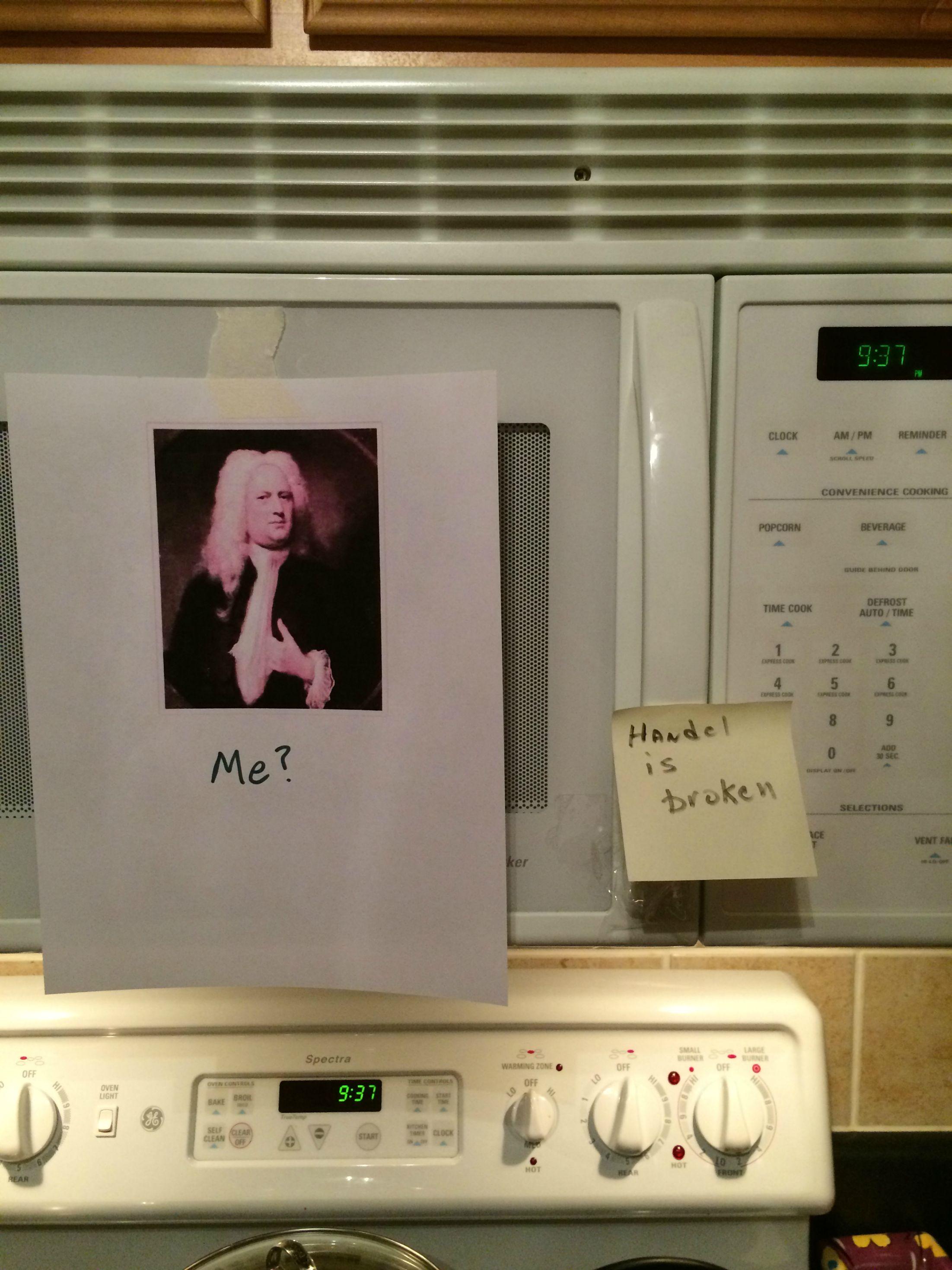 Imgur - Handel microwave pun