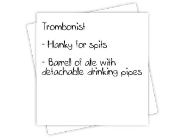 Trombonist tour rider