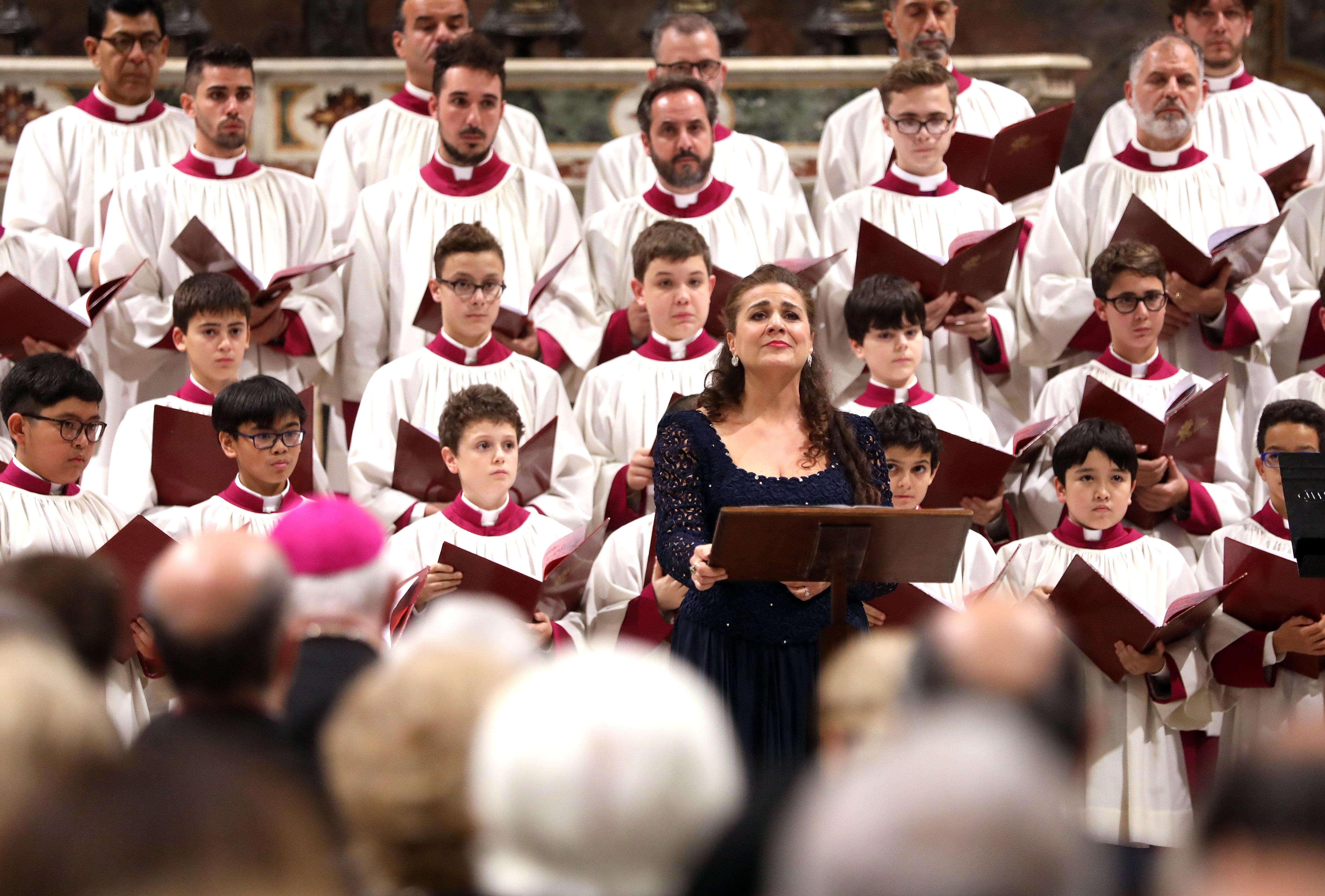 Cecilia Bartoli perform at the Sistine Chapel