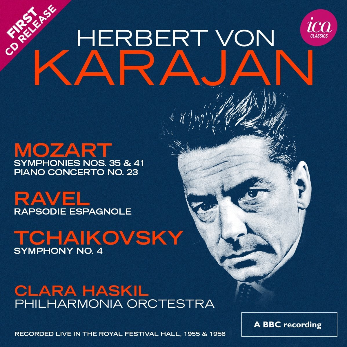 Karajan conducts the Philharmonia in Mozart and Tc