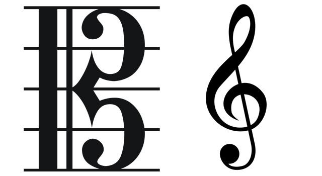Alto and treble clef