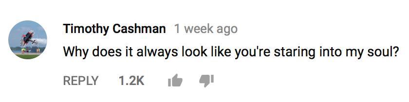 YouTube Vinheteiro comment