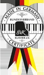 BVK piano certificate