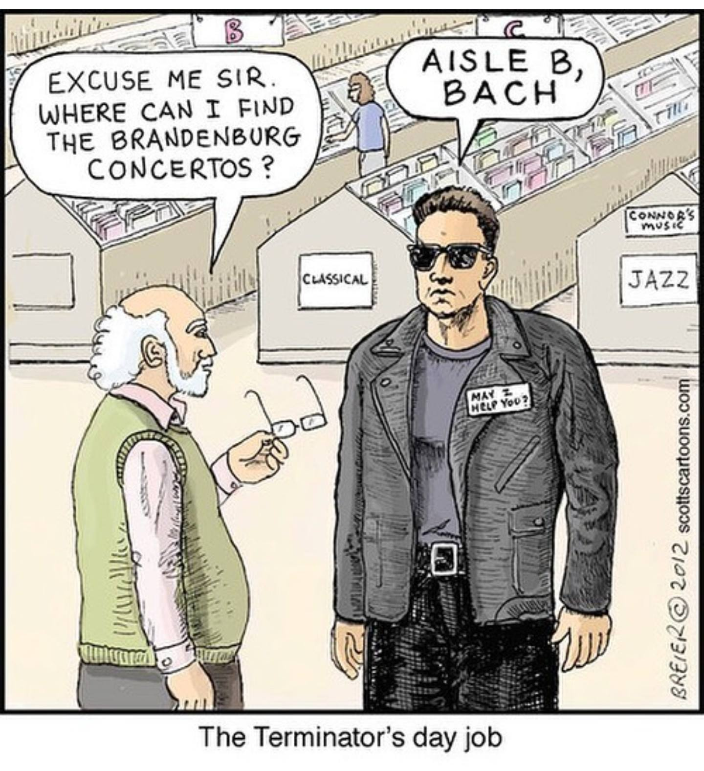 aisle b Bach arnie meme