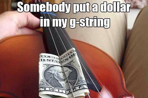 dollar in g string