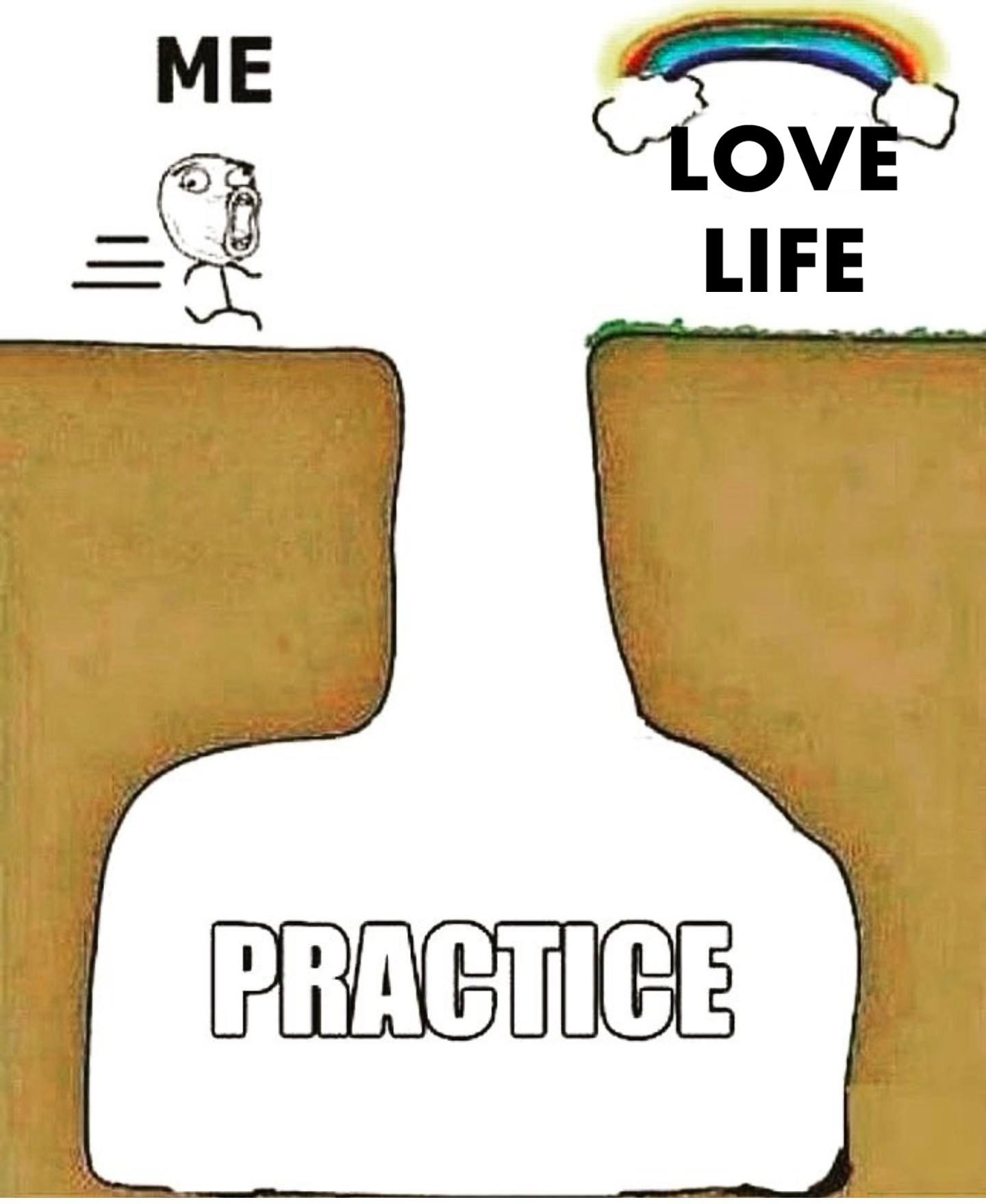 love life practice meme