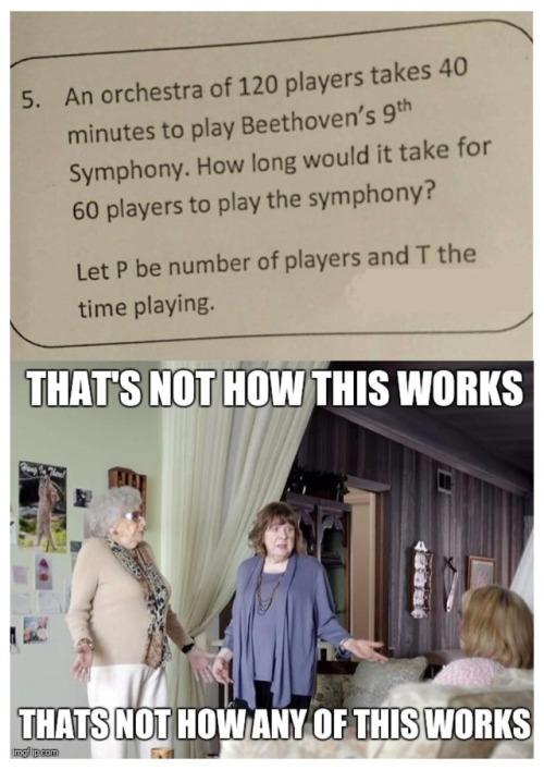 orchestra school exam paper meme