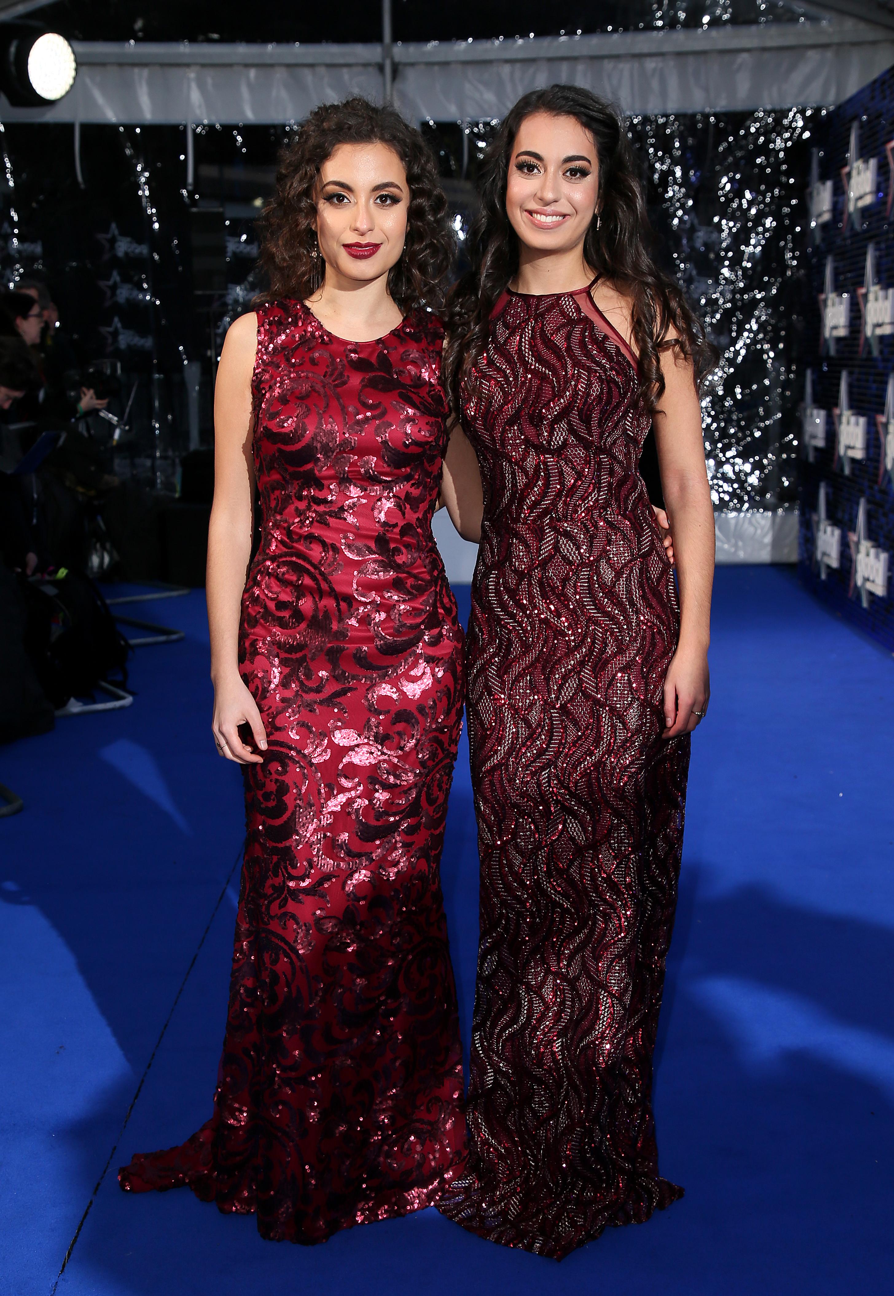 Sarah Ayoub and Laura Ayoub Global Awards 2018 blu