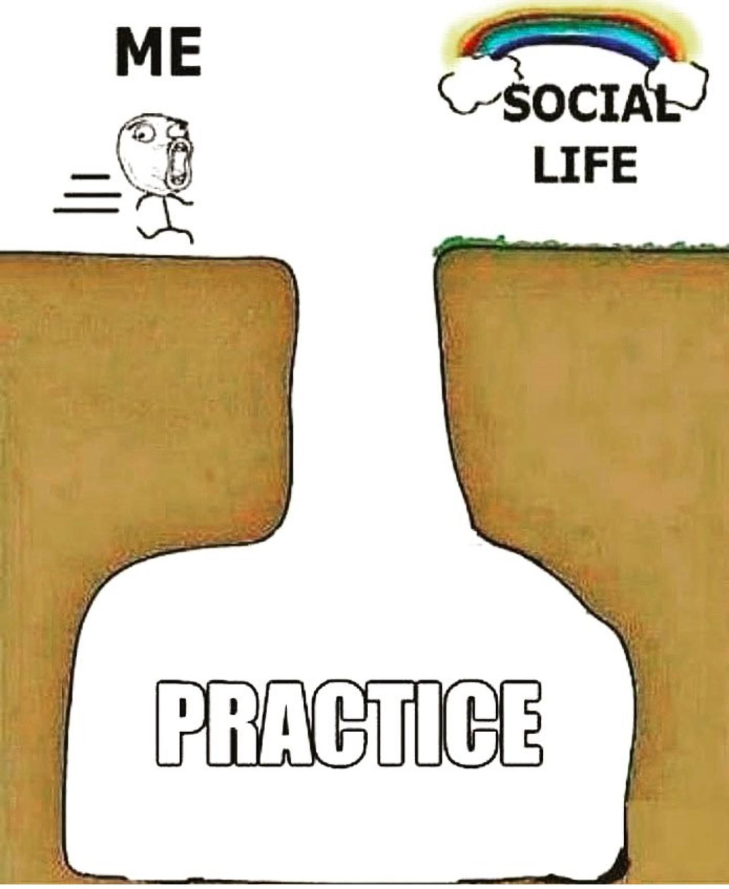 social life practice meme