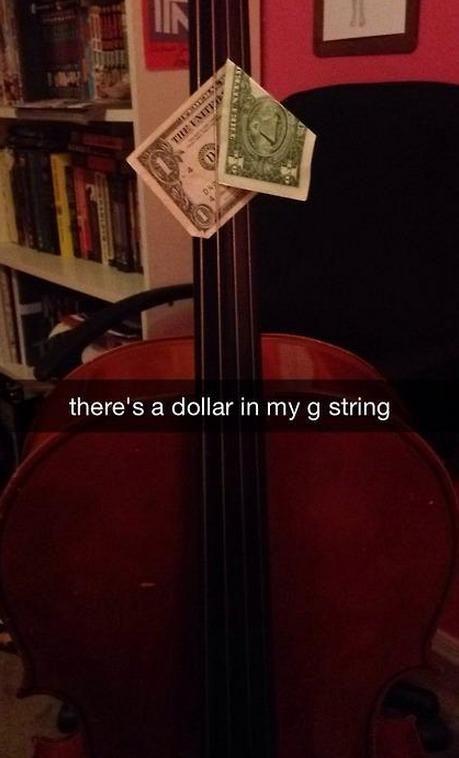 dollar in g string