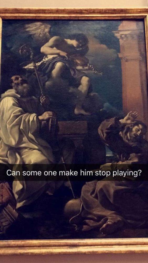 make him stop playing