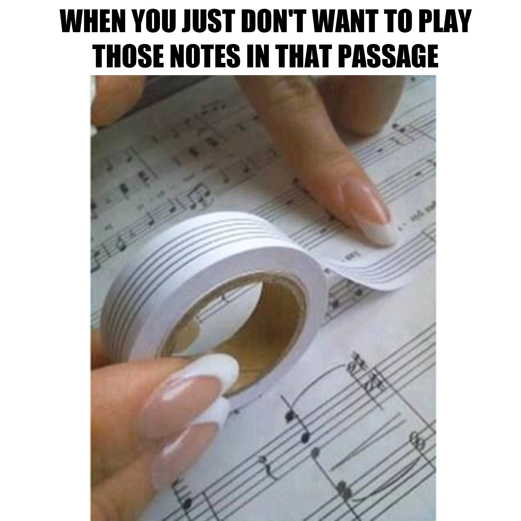 don't want to play the notes