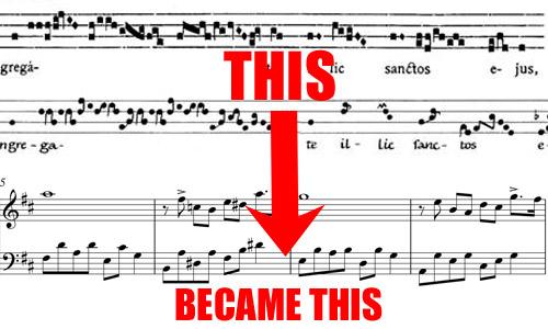 sheet music evolution