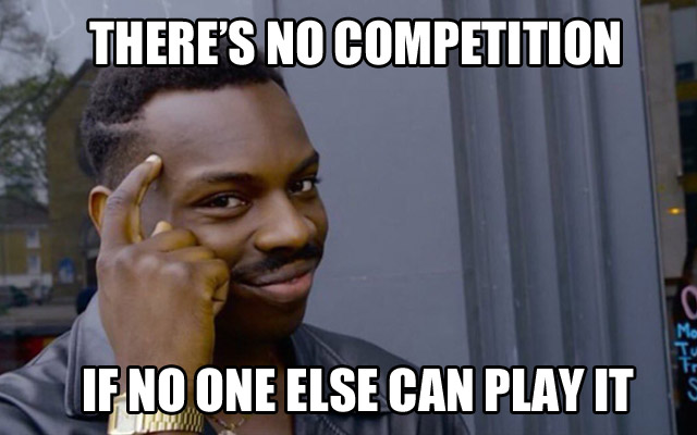no competition genius guy meme