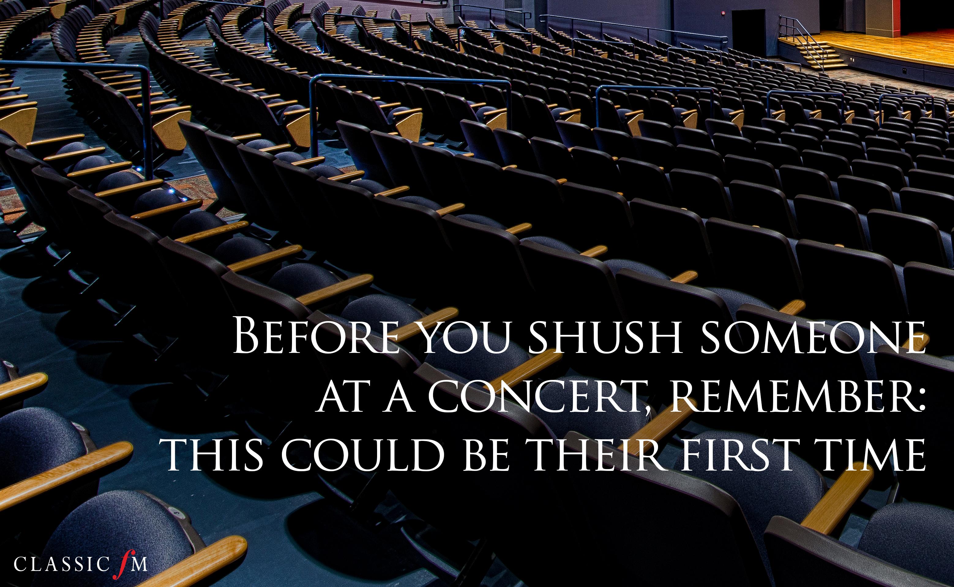 Concert shush