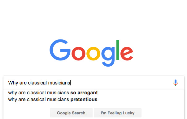 Why are classical musicians arrogant