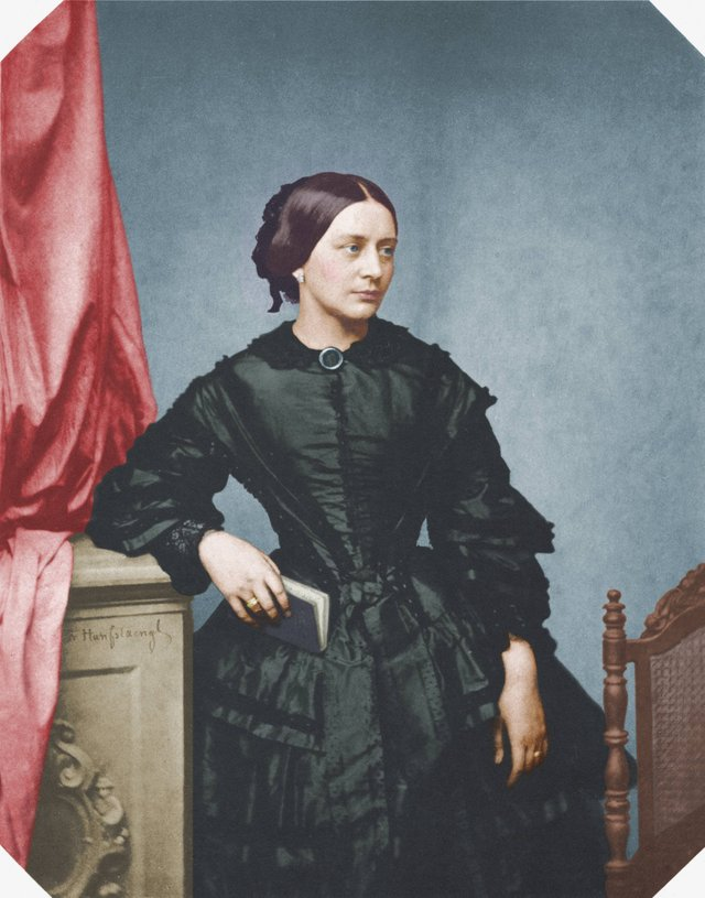 Clara Schumann in colour