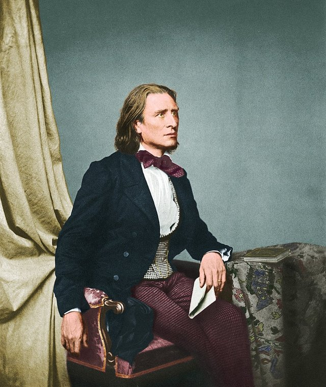 Franz Liszt in colour