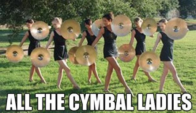 All the cymbal ladies