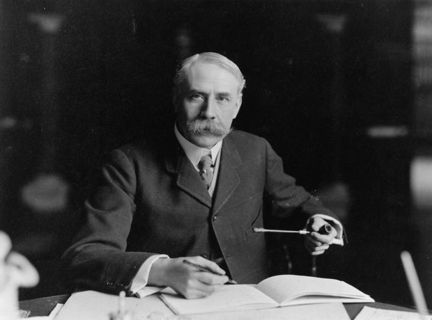 Edward Elgar's bushy moustache!
