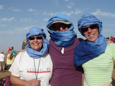 Trek Sahara - Beverley, Susie and Sue