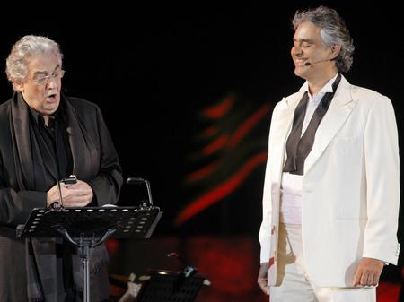 Placido Domingo and Andrea Bocelli
