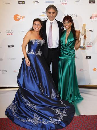 Cecilia Bartoli, Andrea Bocelli and Danielle de Ni