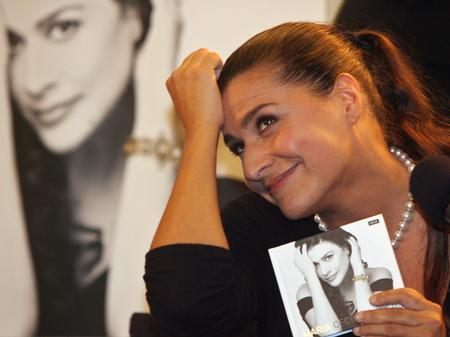 Cecilia Bartoli attends a news conference